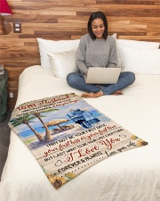 """FAM10123BL - To My Husband Love You Longer Small Fleece Blanket - 30"""" x 40"""" aos-coral-fleece-blanket-30x40-lifestyle-front-08"""