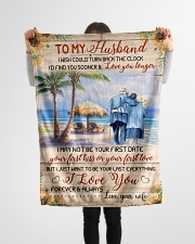 """FAM10123BL - To My Husband Love You Longer Small Fleece Blanket - 30"""" x 40"""" aos-coral-fleece-blanket-30x40-lifestyle-front-14"""