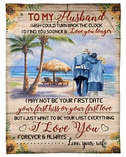 """FAM10123BL - To My Husband Love You Longer Small Fleece Blanket - 30"""" x 40"""" front"""
