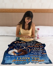 """BL10070 - To My Wife Once Upon A Time Small Fleece Blanket - 30"""" x 40"""" aos-coral-fleece-blanket-30x40-lifestyle-front-12"""