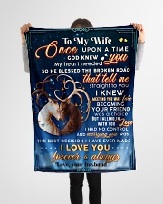 """BL10070 - To My Wife Once Upon A Time Small Fleece Blanket - 30"""" x 40"""" aos-coral-fleece-blanket-30x40-lifestyle-front-14"""