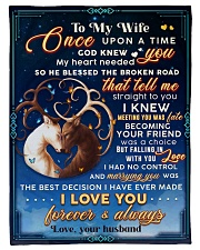 """BL10070 - To My Wife Once Upon A Time Small Fleece Blanket - 30"""" x 40"""" front"""
