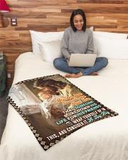 "JES10046BL - Jesus Christ  Small Fleece Blanket - 30"" x 40"" aos-coral-fleece-blanket-30x40-lifestyle-front-08"