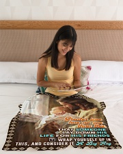 "JES10046BL - Jesus Christ  Small Fleece Blanket - 30"" x 40"" aos-coral-fleece-blanket-30x40-lifestyle-front-12"