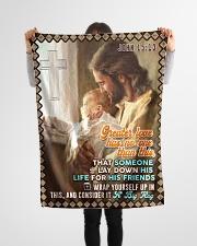 "JES10046BL - Jesus Christ  Small Fleece Blanket - 30"" x 40"" aos-coral-fleece-blanket-30x40-lifestyle-front-14"