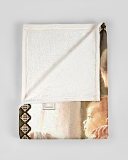 "JES10046BL - Jesus Christ  Small Fleece Blanket - 30"" x 40"" aos-coral-fleece-blanket-30x40-lifestyle-front-17"