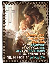 "JES10046BL - Jesus Christ  Small Fleece Blanket - 30"" x 40"" front"
