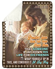 JES10046BL - Jesus Christ  Sherpa Fleece Blanket tile