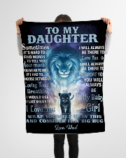 """FBC10007 - Lion To My Daughter Small Fleece Blanket - 30"""" x 40"""" aos-coral-fleece-blanket-30x40-lifestyle-front-14"""