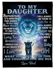 """FBC10007 - Lion To My Daughter Small Fleece Blanket - 30"""" x 40"""" front"""