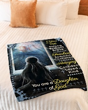 """JES10096 - You Are A Daughter Of God Small Fleece Blanket - 30"""" x 40"""" aos-coral-fleece-blanket-30x40-lifestyle-front-01"""