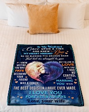 """BL10081 - To My Husband Once Upon A Time Small Fleece Blanket - 30"""" x 40"""" aos-coral-fleece-blanket-30x40-lifestyle-front-04"""