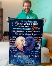 """BL10081 - To My Husband Once Upon A Time Small Fleece Blanket - 30"""" x 40"""" aos-coral-fleece-blanket-30x40-lifestyle-front-09"""