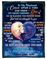 """BL10081 - To My Husband Once Upon A Time Small Fleece Blanket - 30"""" x 40"""" front"""