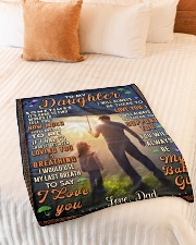 """BL10050 - To My Daughter Dad With Love Small Fleece Blanket - 30"""" x 40"""" aos-coral-fleece-blanket-30x40-lifestyle-front-01"""