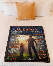 """BL10050 - To My Daughter Dad With Love Small Fleece Blanket - 30"""" x 40"""" aos-coral-fleece-blanket-30x40-lifestyle-front-04"""
