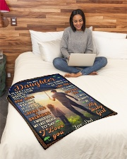 """BL10050 - To My Daughter Dad With Love Small Fleece Blanket - 30"""" x 40"""" aos-coral-fleece-blanket-30x40-lifestyle-front-08"""