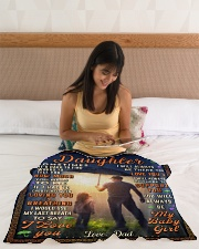 """BL10050 - To My Daughter Dad With Love Small Fleece Blanket - 30"""" x 40"""" aos-coral-fleece-blanket-30x40-lifestyle-front-12"""