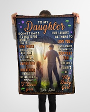 """BL10050 - To My Daughter Dad With Love Small Fleece Blanket - 30"""" x 40"""" aos-coral-fleece-blanket-30x40-lifestyle-front-14"""