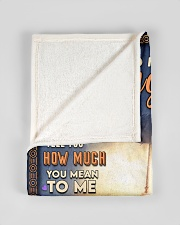 """BL10050 - To My Daughter Dad With Love Small Fleece Blanket - 30"""" x 40"""" aos-coral-fleece-blanket-30x40-lifestyle-front-17"""