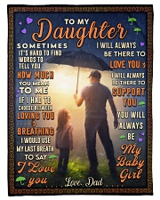 """BL10050 - To My Daughter Dad With Love Small Fleece Blanket - 30"""" x 40"""" front"""