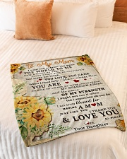 """BL10009 - To My Mom Sunflower Daughter Letter Small Fleece Blanket - 30"""" x 40"""" aos-coral-fleece-blanket-30x40-lifestyle-front-01"""