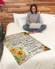 """BL10009 - To My Mom Sunflower Daughter Letter Small Fleece Blanket - 30"""" x 40"""" aos-coral-fleece-blanket-30x40-lifestyle-front-08"""