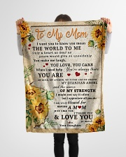 """BL10009 - To My Mom Sunflower Daughter Letter Small Fleece Blanket - 30"""" x 40"""" aos-coral-fleece-blanket-30x40-lifestyle-front-14"""