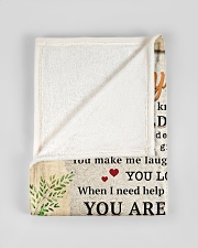 """BL10009 - To My Mom Sunflower Daughter Letter Small Fleece Blanket - 30"""" x 40"""" aos-coral-fleece-blanket-30x40-lifestyle-front-17"""