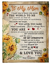 """BL10009 - To My Mom Sunflower Daughter Letter Small Fleece Blanket - 30"""" x 40"""" front"""