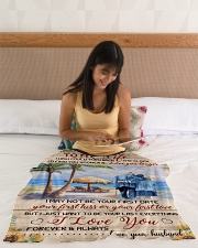 """FAM10111BL - To My Wife Love You Longer Small Fleece Blanket - 30"""" x 40"""" aos-coral-fleece-blanket-30x40-lifestyle-front-12"""