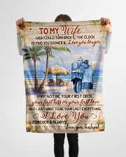"""FAM10111BL - To My Wife Love You Longer Small Fleece Blanket - 30"""" x 40"""" aos-coral-fleece-blanket-30x40-lifestyle-front-14"""