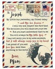 """FBL10073C To Joseph  Mom Letter Family Small Fleece Blanket - 30"""" x 40"""" front"""
