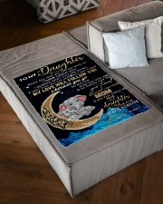 """FBC10012 - Daughter Everyday That You Small Fleece Blanket - 30"""" x 40"""" aos-coral-fleece-blanket-30x40-lifestyle-front-03"""
