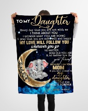 """FBC10012 - Daughter Everyday That You Small Fleece Blanket - 30"""" x 40"""" aos-coral-fleece-blanket-30x40-lifestyle-front-14"""