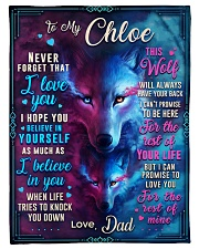 """BL10056N - To My Chloe Dad Letter Small Fleece Blanket - 30"""" x 40"""" front"""