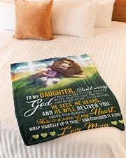 """Jes10089 - God Is Never Blind To Your Tears Small Fleece Blanket - 30"""" x 40"""" aos-coral-fleece-blanket-30x40-lifestyle-front-01"""
