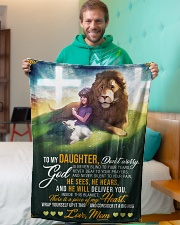 """Jes10089 - God Is Never Blind To Your Tears Small Fleece Blanket - 30"""" x 40"""" aos-coral-fleece-blanket-30x40-lifestyle-front-09"""