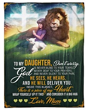 """Jes10089 - God Is Never Blind To Your Tears Small Fleece Blanket - 30"""" x 40"""" front"""