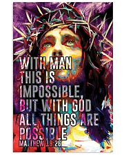 JES10008PT - Jesus Christ All Things Are Possible 11x17 Poster front