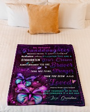 """BL10035 - Beloved Granddaughter Butterfly Night Small Fleece Blanket - 30"""" x 40"""" aos-coral-fleece-blanket-30x40-lifestyle-front-04"""