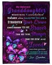 "BL10035 - Beloved Granddaughter Butterfly Night Small Fleece Blanket - 30"" x 40"" front"