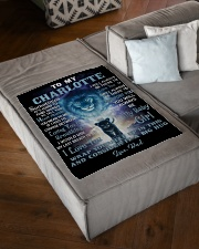 """FBC10007N - To My Charlotte Lion Dad Letter Small Fleece Blanket - 30"""" x 40"""" aos-coral-fleece-blanket-30x40-lifestyle-front-03"""