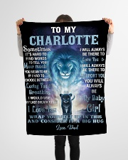 """FBC10007N - To My Charlotte Lion Dad Letter Small Fleece Blanket - 30"""" x 40"""" aos-coral-fleece-blanket-30x40-lifestyle-front-14"""