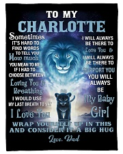 """FBC10007N - To My Charlotte Lion Dad Letter Small Fleece Blanket - 30"""" x 40"""" front"""