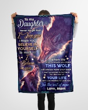 """BL10072 - To My Daughter Wolf Mom Letter Small Fleece Blanket - 30"""" x 40"""" aos-coral-fleece-blanket-30x40-lifestyle-front-14"""