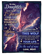"""BL10072 - To My Daughter Wolf Mom Letter Small Fleece Blanket - 30"""" x 40"""" front"""