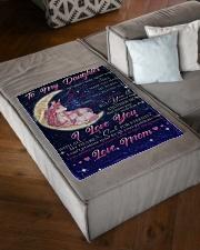 "FBC10016 - Daughter Love Unicorn Small Fleece Blanket - 30"" x 40"" aos-coral-fleece-blanket-30x40-lifestyle-front-03"