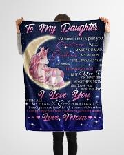 "FBC10016 - Daughter Love Unicorn Small Fleece Blanket - 30"" x 40"" aos-coral-fleece-blanket-30x40-lifestyle-front-14"