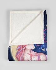 "FBC10016 - Daughter Love Unicorn Small Fleece Blanket - 30"" x 40"" aos-coral-fleece-blanket-30x40-lifestyle-front-17"
